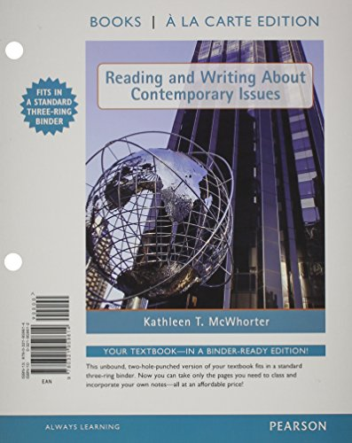 9780321992239: Reading and Writing About Contemporary Issues, Books a la Carte Plus NEW MySkillsLab with eText -- Access Card Package
