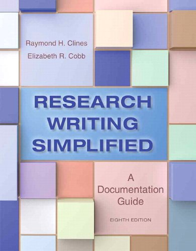 9780321993090: Research Writing Simplified: A Documentation Guide Plus MyWritingLab -- Access Card Package (8th Edition)
