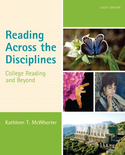 9780321993557: Reading Across the Disciplines: College Reading and Beyond Plus NEW MyReadingLab with eText -- Access Card Package (6th Edition)