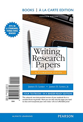 9780321993779: Writing Research Papers: A Complete Guide, Books a la Carte Edition