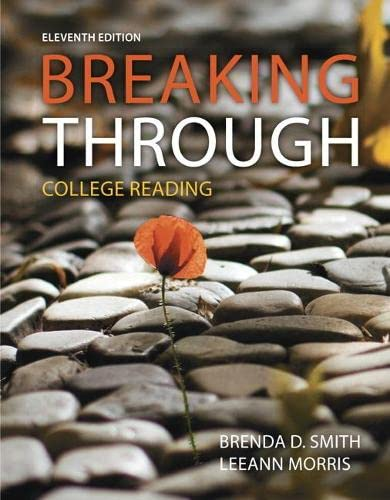9780321994196: Breaking Through: College Reading