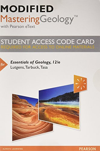 9780321994875: Modified MasteringGeology with Pearson eText -- Standalone Access Card -- for Essentials of Geology (12th Edition)