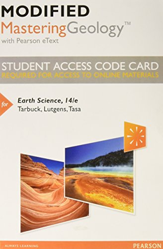 9780321994899: Modified Mastering Geology with Pearson eText -- Standalone Access Card -- for Earth Science