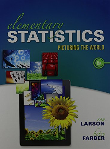 Elementary Statistics: Picturing the World and MathXL Valuepack Access Card (6-months) (6th Edition...