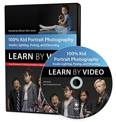9780321995728: 100% Kid Portrait Photography: Learn by Video: Studio Lighting, Posing, and Directing