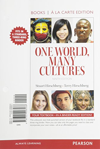 9780321996466: One World Many Cultures, Books a la Carte Edition (9th Edition)