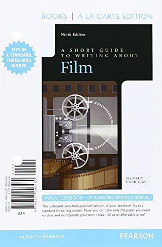 9780321996480: Short Guide to Writing about Film, Books a la Carte Edition (9th Edition)
