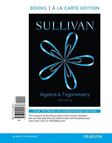 9780321999276: Algebra and Trigonometry, Books a la Carte Edition (10th Edition)