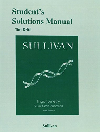 9780321999399: Student's Solutions Manual (valuepak) for Trigonometry: A Unit Circle Approach