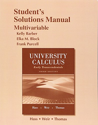 9780321999856: Student Solutions Manual for University Calculus: Early Transcendentals, Multivariable