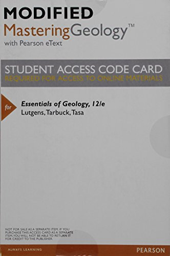 9780321999993: New MasteringGeology with Pearson eText - Valuepack Access Card - for Essentials of Geology