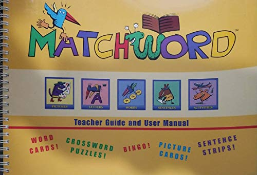 MatchWord Teacher Guide and User Manual: n/a