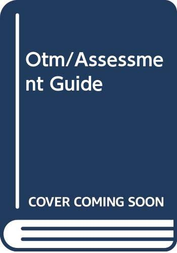On-The-Mark Assessment Guide (Early Emergent/Upper Emergent): Wright Group McGraw-Hill