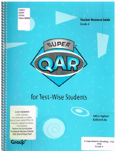 9780322077669: Super Qar for Test-Wise Students: Grade 6 Teacher Guide