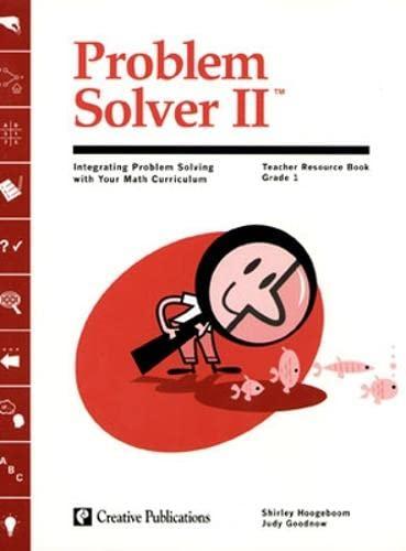 9780322088054: Problem Solver II: Grade 1 Teacher Guide