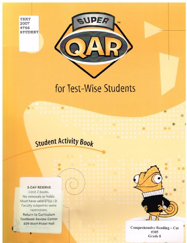 9780322091153: Super Qar for Test-Wise Students: Grade 8, Student Activity