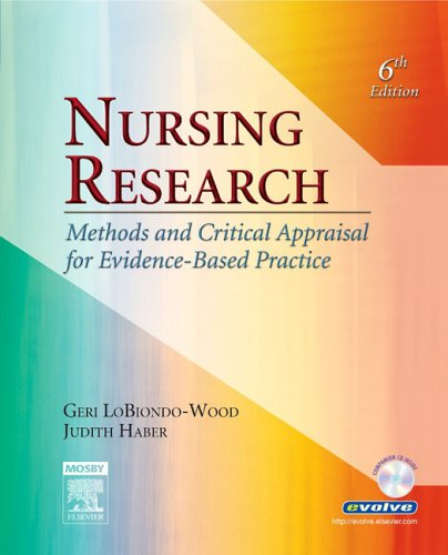 9780323028288: Nursing Research: Methods and Critical Appraisal for Evidence-Based Practice