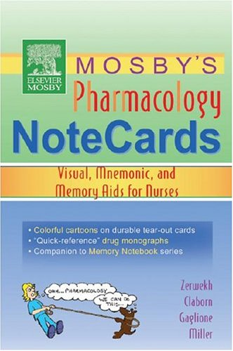 9780323031912: Mosby's Pharmacology Memory NoteCards: Visual, Mnemonic, and Memory Aids for Nurses, 1e
