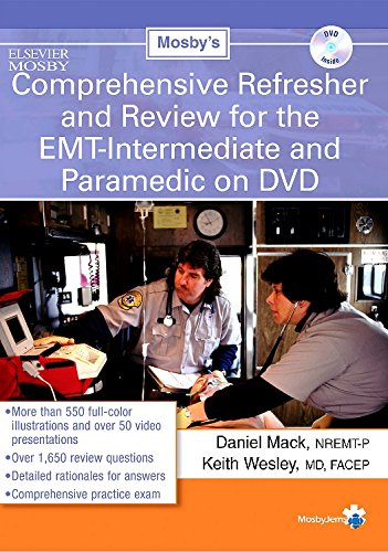 9780323033152: Mosby's Comprehensive Refresher & Review for the EMT Intermediate and Paramedic on DVD, 1e