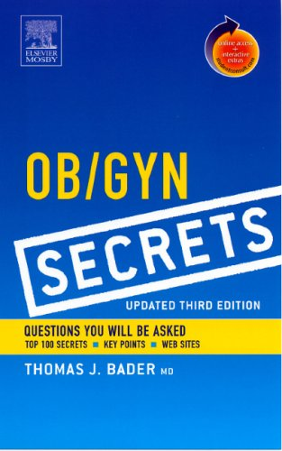 9780323034159: Ob / Gyn Secrets, Updated 3rd Edition