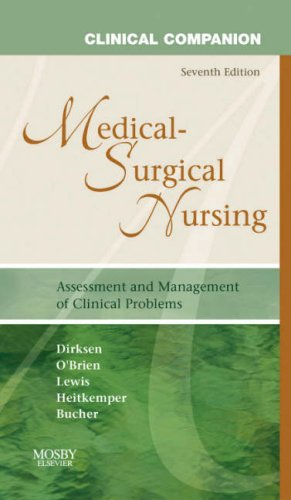 Medical Surgical Nursing, by Dirksen, 7th Edition,: Dirksen, Shannon Ruff/