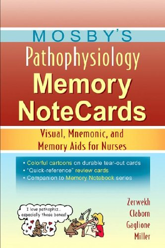 9780323037266: Mosby's Pathophysiology Memory NoteCards: Visual, Mnemonic, and Memory Aids for Nurses