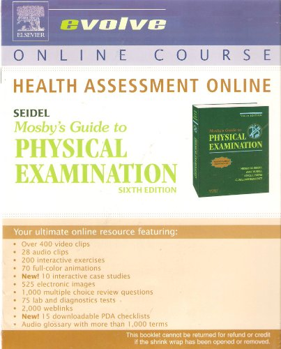9780323037402: Health Assessment Online for Mosby's Guide to Physical Examination (User Guide and Access Code)