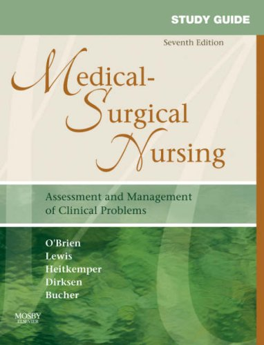 9780323037426: Study Guide for Medical-Surgical Nursing: Assessment and Management of Clinical Problems, 7e