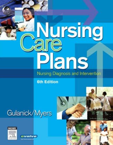 gulanick nursing care plans pdf