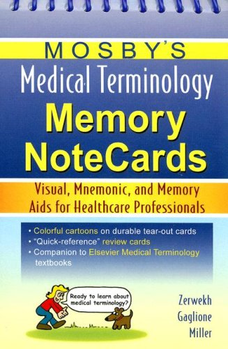 9780323045674: Mosby's Medical Terminology Memory NoteCards