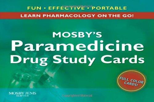 9780323048194: Mosby's Paramedicine Drug Study Cards