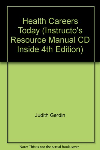 9780323048453: Health Careers Today (Instructo's Resource Manual CD Inside 4th Edition)
