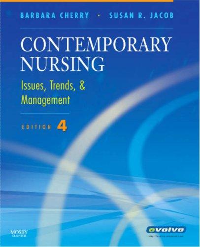 9780323052177: Contemporary Nursing: Issues, Trends & Management, 4e (Cherry, Contemporary Nursing)