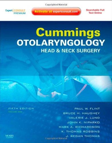 9780323052832: Cummings Otolaryngology - Head and Neck Surgery, 3-Volume Set: Expert Consult: Online and Print, 5e (Otolaryngology (Cummings))