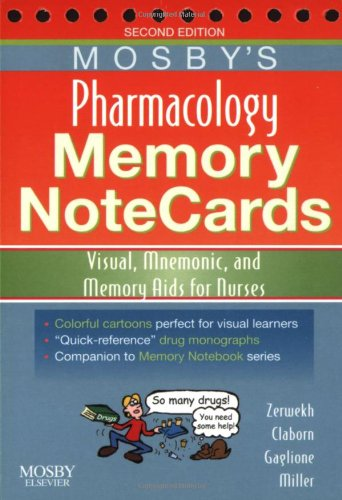 9780323054065: Mosby's Pharmacology Memory NoteCards: Visual, Mnemonic, and Memory Aids for Nurses, 2e