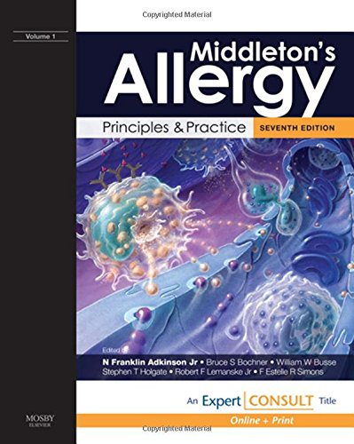 9780323056595: Middleton's Allergy: Principles and Practice: Expert Consult: Online and Print, 2-Volume Set, 7e (Allergy (Middleton))