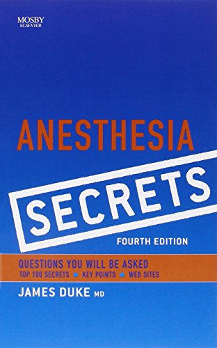 9780323065245: Anesthesia Secrets, 4th Edition