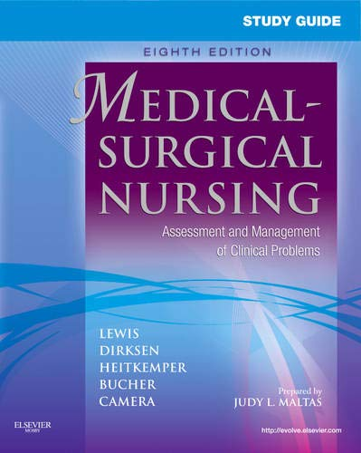 9780323066549: Study Guide for Medical-Surgical Nursing: Assessment and Management of Clinical Problems, 8e (Study Guide for Medical-Surgical Nursing: Assessment & Management of Clinical Problem)