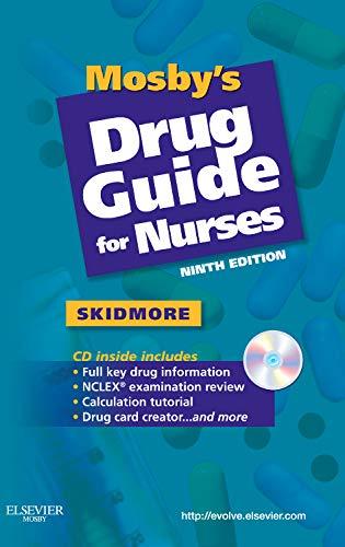 9780323067034: Mosby's Drug Guide for Nurses, 9e