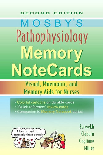 9780323067478: Mosby's Pathophysiology Memory NoteCards: Visual, Mnemonic, and Memory Aids for Nurses, 2e