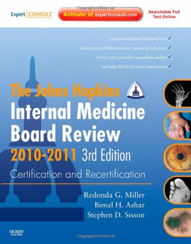 9780323068758: Johns Hopkins Internal Medicine Board Review 2010-2011: Certification and Recertification: Expert Consult - Online and Print, 3e