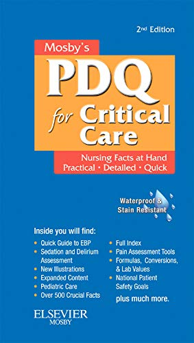 9780323074063: Mosby's Nursing PDQ for Critical Care, 2e