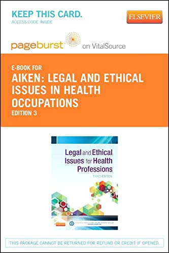 9780323089944: Legal and Ethical Issues for Health Professions - Elsevier eBook on VitalSource (Retail Access Card), 3e