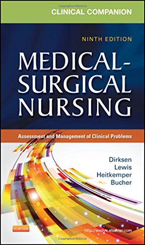 9780323091435: Clinical Companion to Medical-Surgical Nursing: Assessment and Management of Clinical Problems, 9e (Lewis, Clinical Companion to Medical-Surgical Nursing: Assessment and Management of C)
