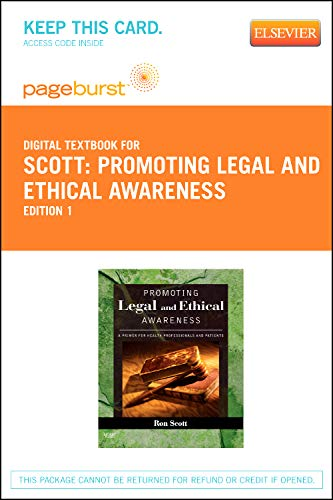9780323092845: Promoting Legal and Ethical Awareness - Elsevier eBook on VitalSource (Retail Access Card): A Primer for Health Professionals and Patients, 1e