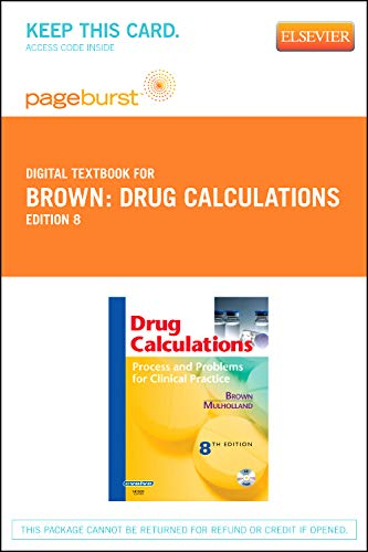 9780323093255: Drug Calculations - Elsevier eBook on VitalSource (Retail Access Card): Process and Problems for Clinical Practice, 8e