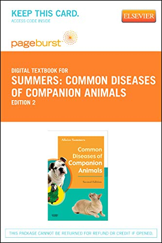 9780323093453: Common Diseases of Companion Animals - Elsevier eBook on VitalSource (Retail Access Card), 2e