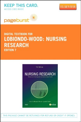 9780323094535: Nursing Research - Elsevier eBook on VitalSource (Retail Access Card): Methods and Critical Appraisal for Evidence-Based Practice