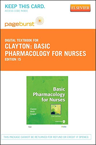 9780323094597: Basic Pharmacology for Nurses - Elsevier eBook on VitalSource (Retail Access Card)