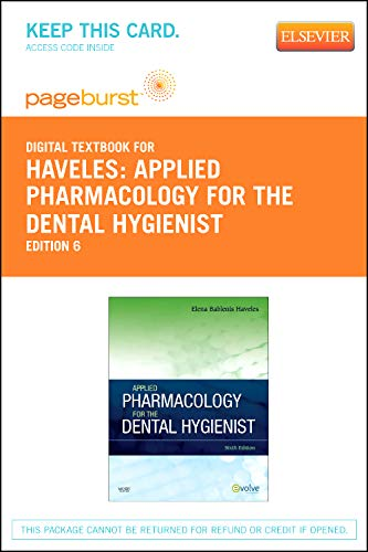 9780323094818: Applied Pharmacology for the Dental Hygienist - Elsevier eBook on VitalSource (Retail Access Card), 6e